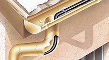 Roof and gutters frost protection